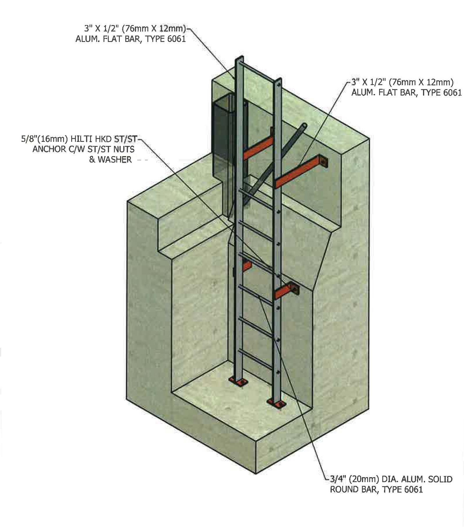 Elevator Pit Ladder